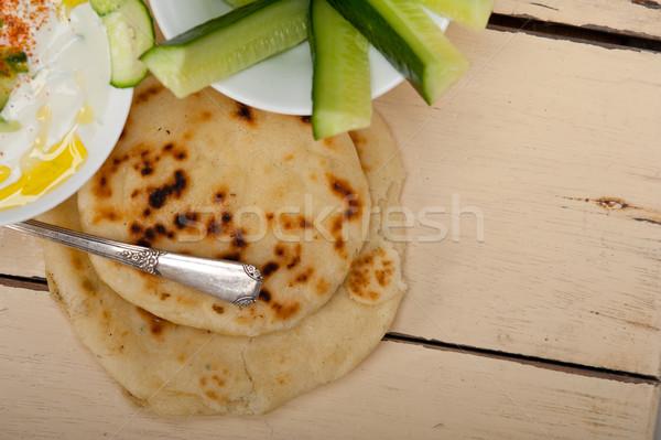 Arab middle east goat yogurt and cucumber salad  Stock photo © keko64