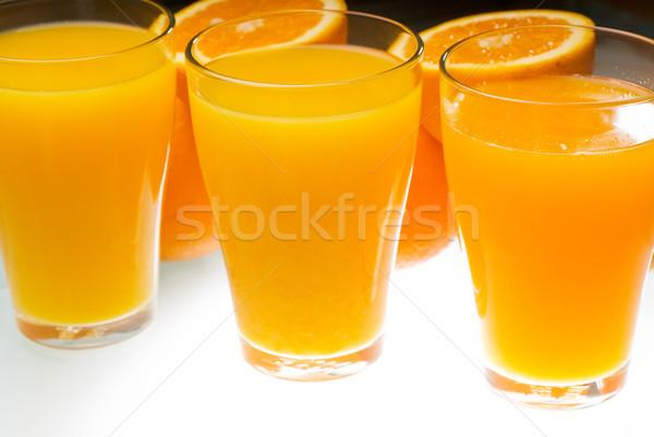 Frescos jugo de naranja saludable luz mesa alimentos Foto stock © keko64