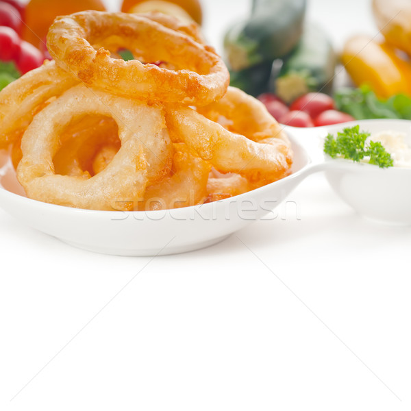 golden deep fried onion rings  Stock photo © keko64
