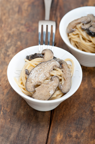 Italiaans spaghetti pasta champignons vers wild Stockfoto © keko64