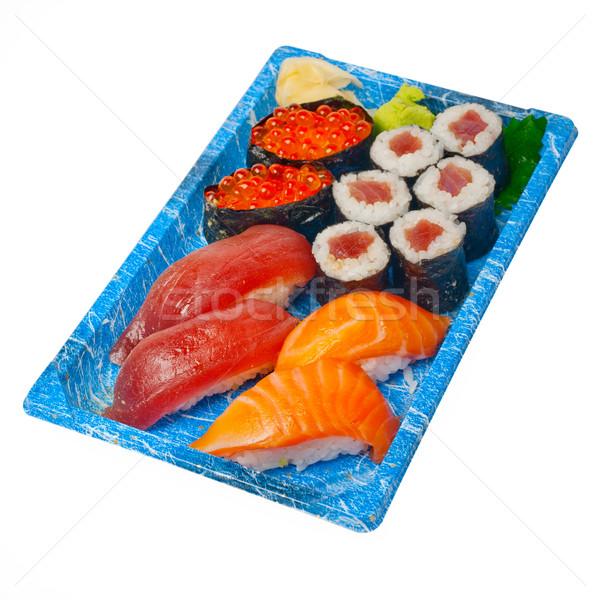 Uzak sushi hızlı plastik tepsi Stok fotoğraf © keko64