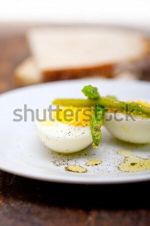 asparagus and eggs Stock photo © keko64