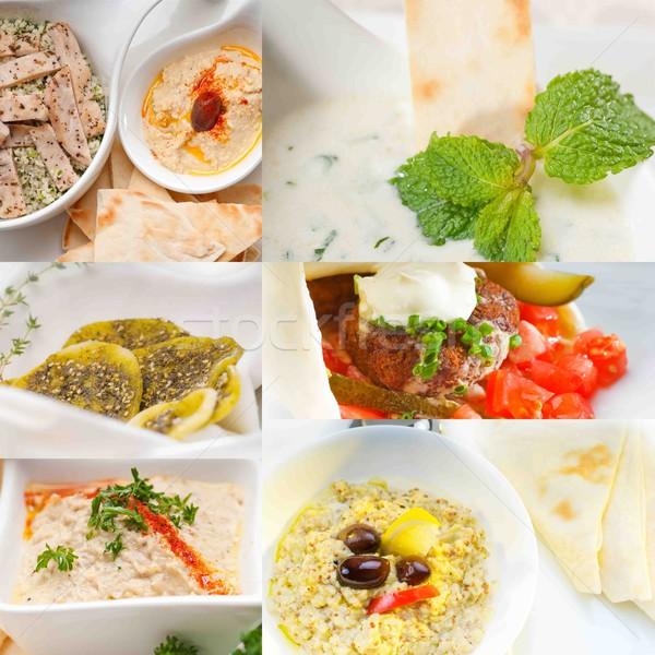 middle east food collage  Stock photo © keko64