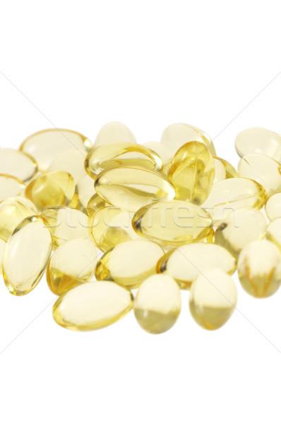 Gel pillen witte medische geneeskunde Stockfoto © keko64