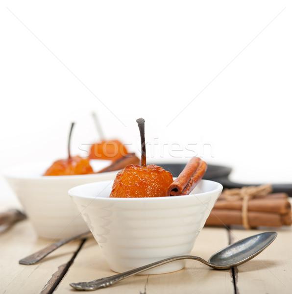 Armut lezzetli beyaz rustik Stok fotoğraf © keko64