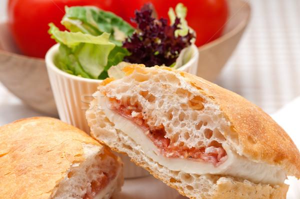Panini sandviç jambon domates İtalyan gıda Stok fotoğraf © keko64