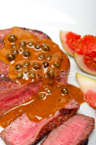 Stock photo: green peppercorn beef filet mignon