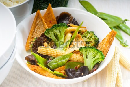 tofu beancurd and vegetables Stock photo © keko64