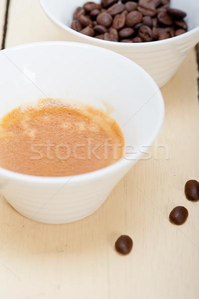 espresso cofee and beans Stock photo © keko64
