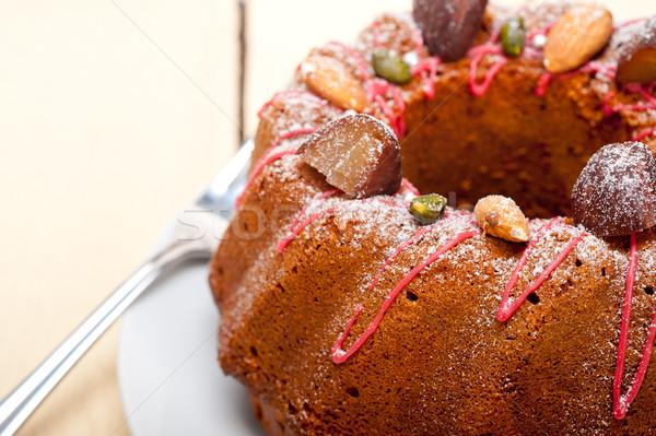 Châtaigne gâteau pain dessert fraîches Photo stock © keko64