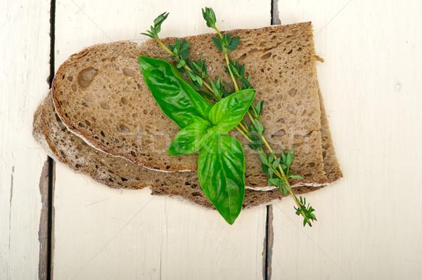 bread basil and thyme Stock photo © keko64