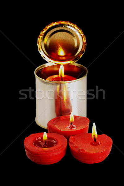 candle on a tin can Stock photo © keko64