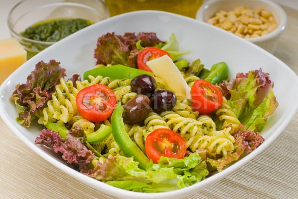 Italiano macarrão salada fresco saudável caseiro Foto stock © keko64