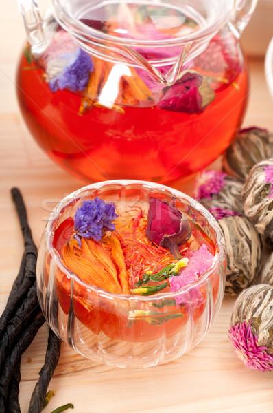 травяной природного цветочный чай вливание высушите Сток-фото © keko64