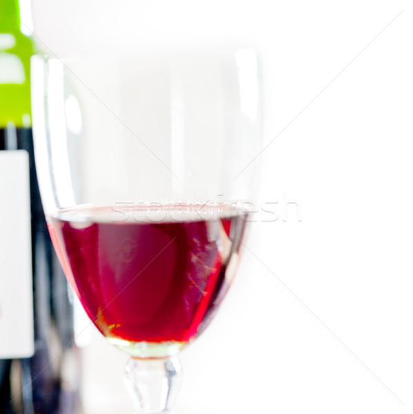 Vinho tinto degustação macro madeira restaurante Foto stock © keko64