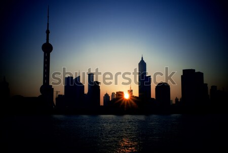 shanghai skyline Stock photo © keko64