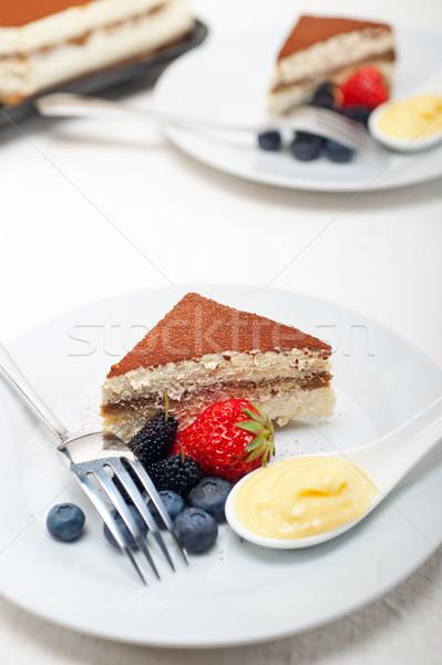 ティラミス デザート 液果類 クリーム イタリア語 ストックフォト © keko64