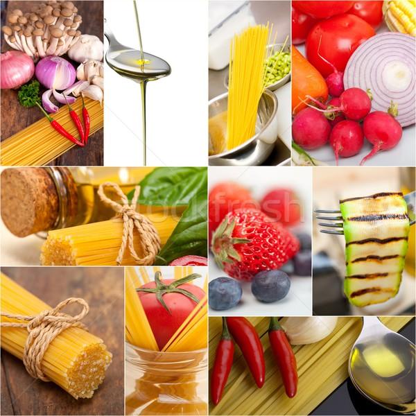 healthy Vegetarian vegan food collage Stock photo © keko64
