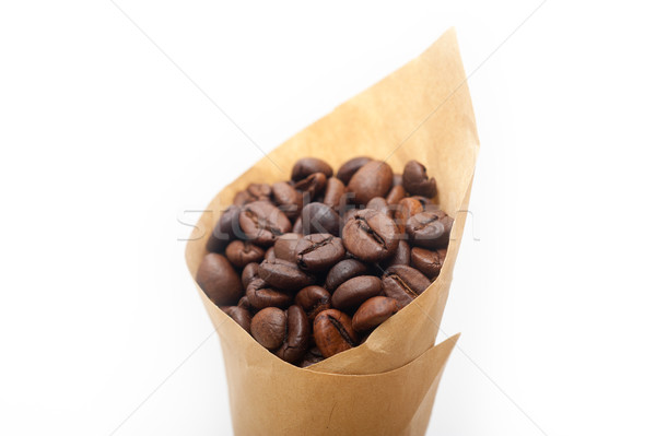 эспрессо кофе бумаги конус рог изобилия белый Сток-фото © keko64