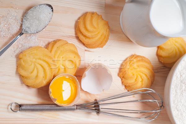 Cookies простой свежие ингредиент Сток-фото © keko64