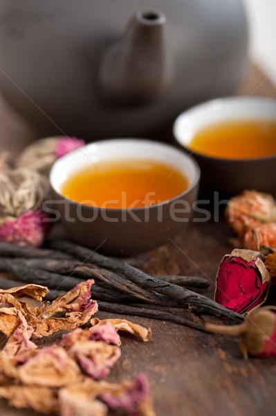 китайский стиль травяной цветочный чай Сток-фото © keko64
