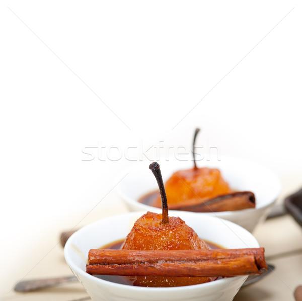 Pere ricetta bianco rustico Foto d'archivio © keko64