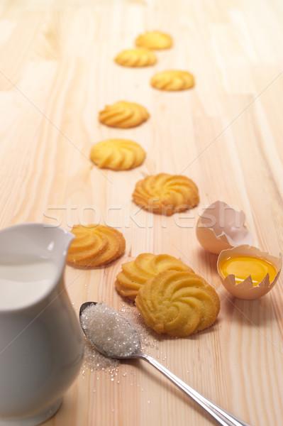 Cookies simple fraîches ingrédient Photo stock © keko64
