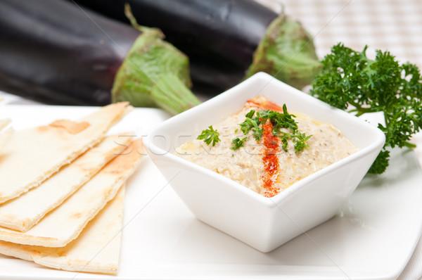 茄子 ディップ 新鮮な 伝統的な 食品 パン ストックフォト © keko64