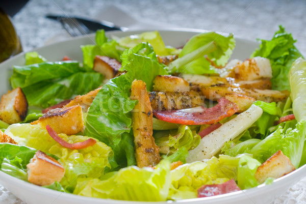 fresh homemade ceasar salad Stock photo © keko64