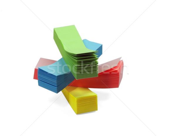 Notatka naklejki kolor naklejki odizolowany biały Zdjęcia stock © keko64