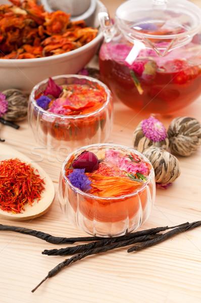 Naturales floral té infusión secar Foto stock © keko64