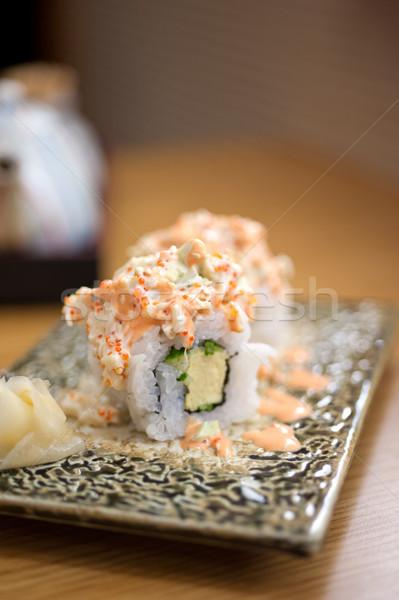 Japanese stile maki sushi set Foto d'archivio © keko64
