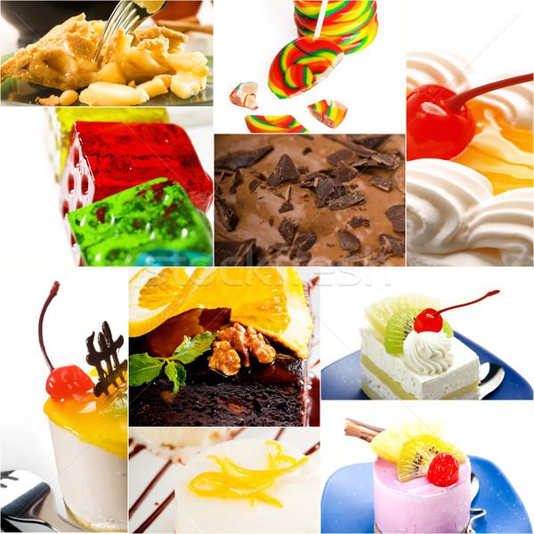 Deser ciasto słodycze kolekcja kolaż jasne Zdjęcia stock © keko64