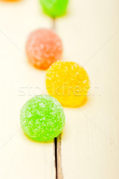 sugar jelly fruit candy Stock photo © keko64