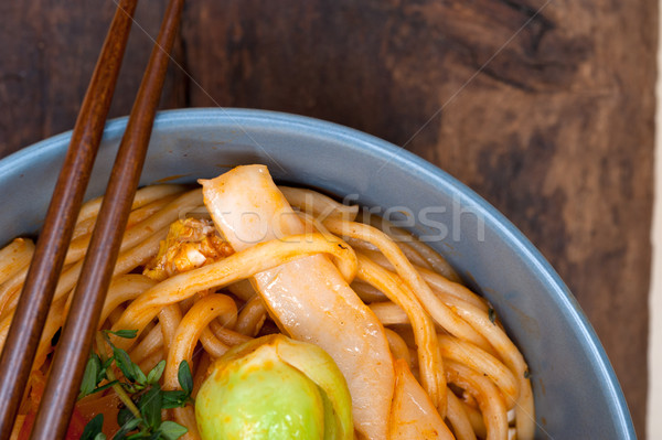 hand pulled ramen noodles Stock photo © keko64