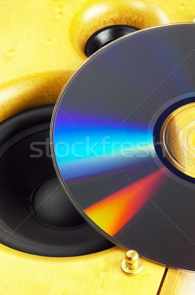 Luidspreker cd hout top muziek Stockfoto © keko64