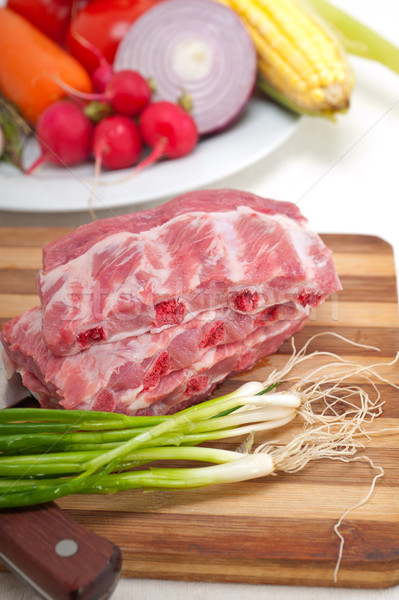 Frescos cerdo hortalizas hierbas Foto stock © keko64
