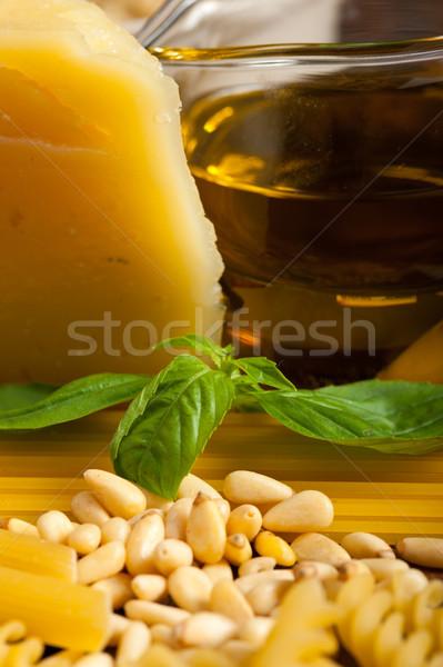 итальянский базилик пасты Ингредиенты сырой Сток-фото © keko64