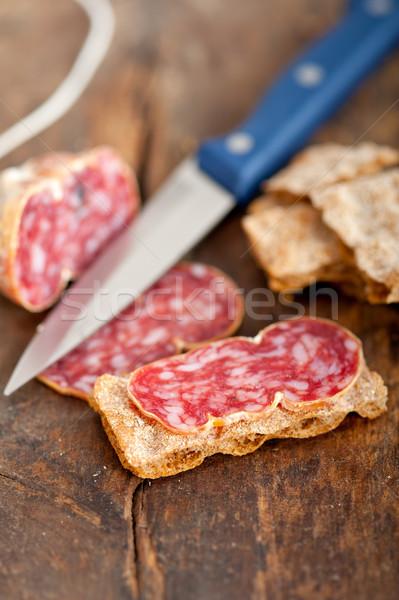 Włoski stare drewno tabeli czerwony pieprz Zdjęcia stock © keko64