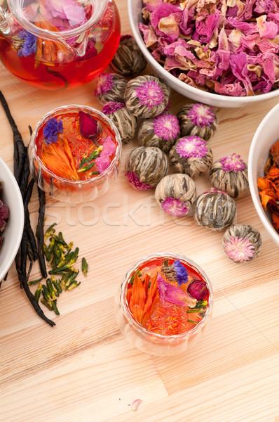Doğal çay demleme kuru Stok fotoğraf © keko64