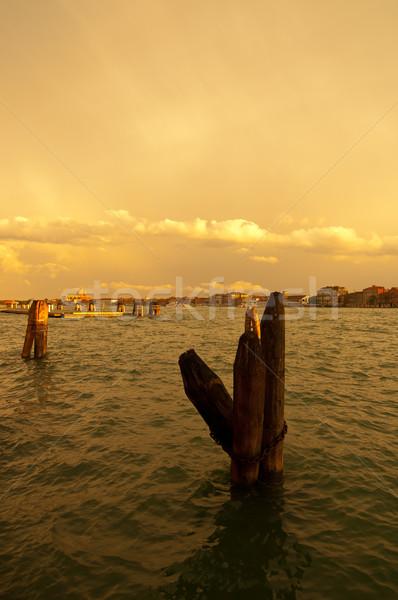 Venecia Italia vista madera signo manera Foto stock © keko64
