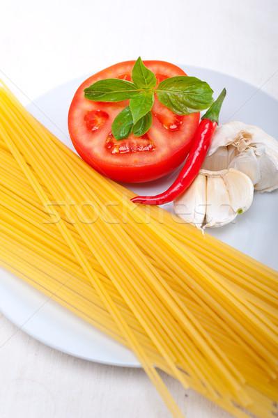 イタリア語 スパゲティ パスタ トマト 材料 生 ストックフォト © keko64