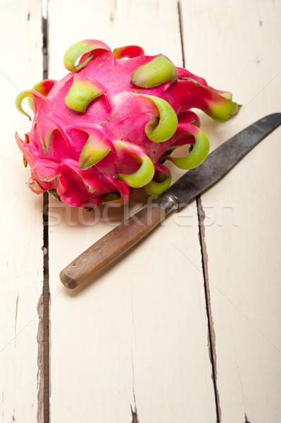 Frescos dragón frutas tailandés púrpura blanco Foto stock © keko64