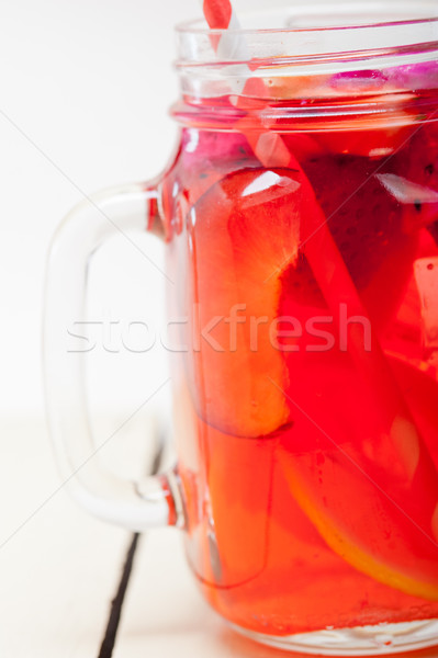 fresh fruit punch drink Stock photo © keko64