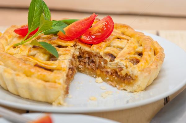 home made beef pie Stock photo © keko64