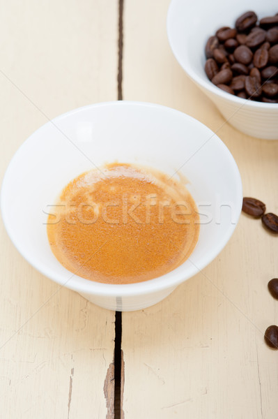 espresso cofee and beans Stock photo © keko64
