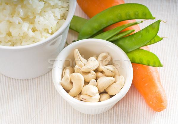 Cachou noten groenten vers moer gestoomd Stockfoto © keko64