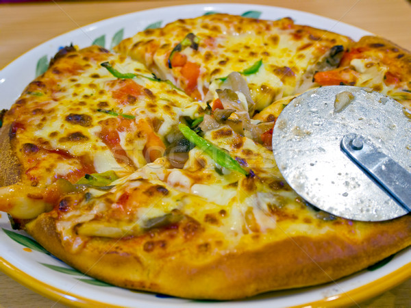 American style pizza  Stock photo © keko64