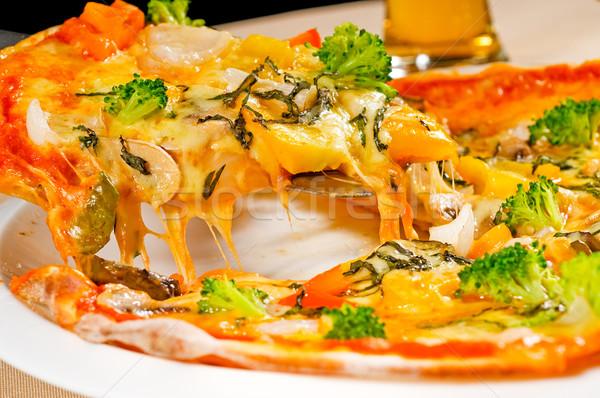 Vegetariano pizza frescos italiano delgado estilo Foto stock © keko64