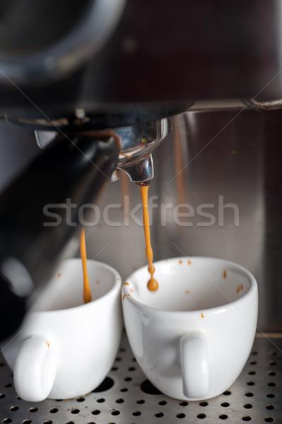 Stock fotó: Eszpresszó · kávé · készít · profi · gép · olasz